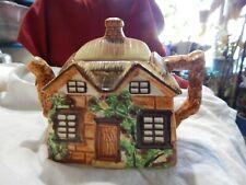Vintage Occupied Japan/ Ceramic Cottage Square Teapot With Lid