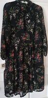 Anne Klein Floral Dress Midi Women's Chiffon Size 16 RETAIL$139.00 Free Shipping