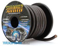 SUNDOWN AUDIO SA-1/0-OFC GA BLACK 100% COPPER WIRE 50 FEET AMPLIFIER CABLE CORD