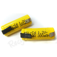 4pcs 2/3 AAA 3A 300mAh Ni-Cd 1.2V rechargeable battery with tab