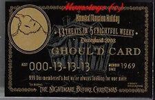DISNEYLAND NIGHTMARE  999 GOLD GOULD CARD