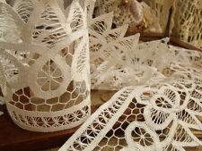 """5"""" WIDE ~Vintage IVORY VICTORIAN dress RoSe AnTiQuE Cotton LACE Trim ~ 5 Yards"""