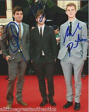 FOSTER THE PEOPLE HAND SIGNED AUTHENTIC 8X10 PHOTO w/COA X3 SUPERMODEL TORCHES B