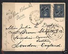 USA #216 (2 VF Copies) On Cover Redirected To Paris