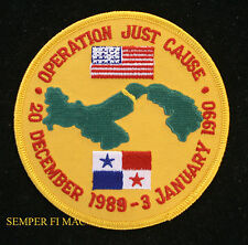 OPERATION JUST CAUSE PATCH US ARMY NAVY MARINES AIR FORCE USCG PRESIDENT BUSH UN