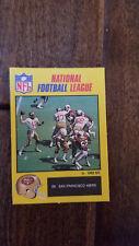 1988 MONTY GUM NFL STICKER CARD ENGLAND UK JOE MONTANA 49ERS NOTRE DAME HOF # 69