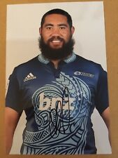 Charlie Faumina- Blues Rugby Signed 6x4 Photo