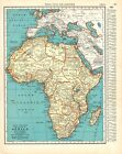 1938 Antique AFRICA MAP Vintage Collectible Map of Africa Gallery Wall Art 9434