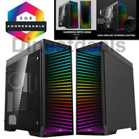 Game Max Abyss Full Tower ARGB ATX Gaming PC Case Tempered Glass LED Fans EATX
