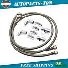 """52"""" Length SS Braided Transmission Cooler Hose Lines Fittings TH350 700R4 TH400"""