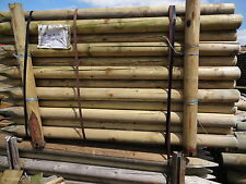 machined round fence posts/ stock fencing