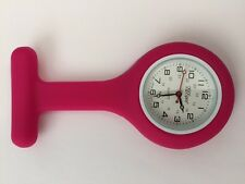 NEW FIRST HAND HEALTHCARE NURSE THERAPIST ROUND PINK SILICONE WATCH