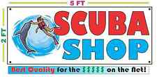 Full Color SCUBA SHOP Banner Sign NEW LARGER SIZE Best Quality for the $$$