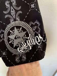 Quiksilver Cross And Stars Surf Board Shorts Embroidered Logo Men's Size 36