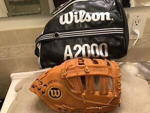 """Wilson USA A2800 12.75"""" Baseball First Base Mitt & Bag Right Hand Throwing"""