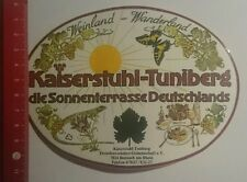Aufkleber/Sticker: Kaiserstuhl Tuniberg die Sonnenterrasse (01111632)