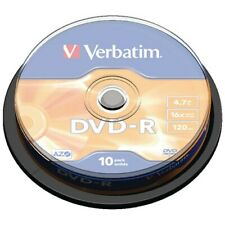 More details for verbatim dvd-r | recordable blank dvd discs in sleeves 5/10 | 4.7gb/120 min/16x