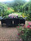 Tectake 800798 Garden Furniture Set 8 Chairs + 1 Table