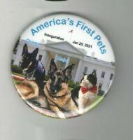 2021 INAUGURATION pin BIDEN pinback GERMAN Shepherd DOG CAT  Major Champ