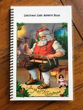 CHRISTMAS CARD ADDRESS BOOK Organizer A-Z Personalized Gift 8 yrs Toy Maker 230
