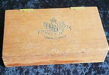 Vintage Questa Rey Wooden Cigar Box - Embossed Logo in Cover - Tampa Florida