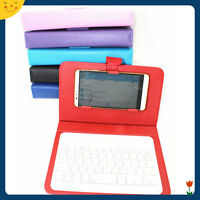 Universal Wireless Bluetooth Keyboard PU Flip Case For iOS/Android Mobile Phone