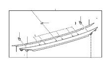 Rear Molding chrome! Fits Lexus ES 300h and ES 350-. OEM USED Part #7680106D61