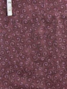 Lighter Swirls,Dk Purple Harvest Melody Print Cotton Fabric,Halvorsen,Benartex