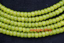 Natural 6x8mm  Green Peridot Abacus Gemstone loose Beads  15''L