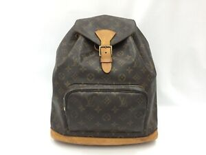 Auth Louis Vuitton Vintage Montsouris GM Backpack Shoulder bag  1C170030n""