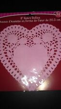 "VALENTINES DAY PINK HEART PAPER LACE DOILIES 8"" DOYLES DOILEY 2 PACKS LOT 48 NEW"