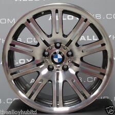 "GENUINE BMW M3 E46 67M GREY/POLISHED 19""INCH 10 DOUBLE SPOKE ALLOY WHEELS X4"