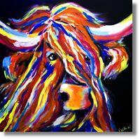 Unikat  Stier Gemälde Kunst Abstrakt Wandbild Nr.881