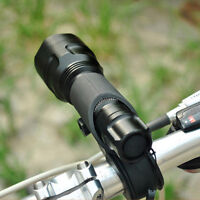 Bike Bicycle Cycling Led Flashlight Holr Front light Mount Clip Bracket  s