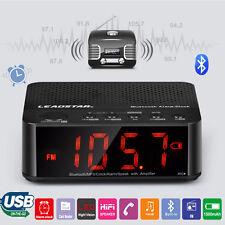 Digital Led Display Alarm Clock Bluetooth Speaker Fm Radio Mp3 Player Tf Wma Ape