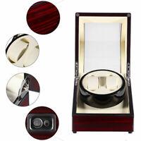 Watch Winder Box Display Wood  Organizer Case Double Luxury Double Automatic WW1