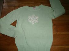 GYMBOREE SPECIAL SWEATER SIZE 7 8 MEDIUM TOP WARM WINTER BALLERINA SNOWFLAKE EUC