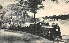 Bristol Connecticut Lake Compunce Gillette Railroad Antique Postcard K30813