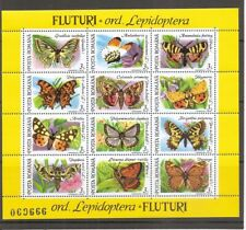 Romania SC # 3697a Insects And Butterflies . Miniature Sheet . MNH