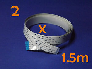 2 X FFC B 15Pin 1.0Pitch 150cm Raspberry Pi Ribbon Cable Kabel Flachbandkabel