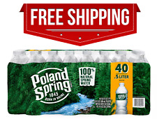 Poland Spring 100% Natural Spring Water 40 Pack 16.9 oz. Recycled Plastic Bottle