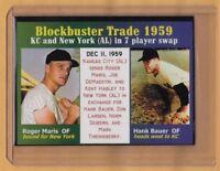 ROGER MARIS / HANK BAUER, BLOCKBUSTER TRADE, '59 YANKEES – SERIAL # /500