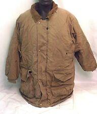 J.Blair Mens Brown Heavy Jacket Coat Size XXL 2XL Flannel Inside