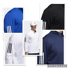 New Adidas Golf 3-Stripe Midweight Quarter-Zip Golf Pullover - Pick Jacket