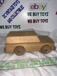Vintage Playskool  Wooden Toy Car