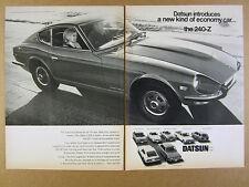 1970 Datsun 240Z 2000 & 1600 Sports 7 Models photo vintage print Ad