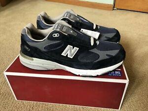 NEW IN BOX Men's New Balance Classic 993 NAVY Running Shoes Sz13 4E