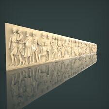 (1037) STL Model Panel for CNC Router 3D Printer Artcam Aspire Bas Relief