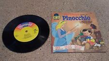 "1977 #311 Walt Disney's "" Pinocchio "" Book and Record"