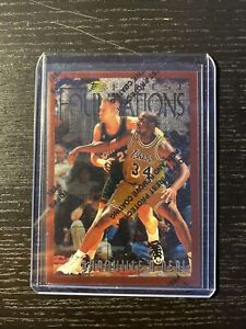 1996-97 Topps Finest Shaquille Oneal Foundations SHAQ Lakers Mint